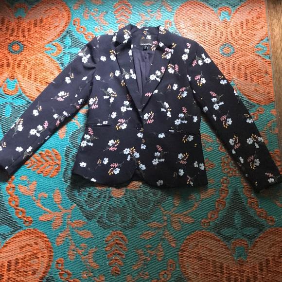 Cynthia Rowley Jackets & Blazers - Cynthia Rowley navy blue floral blazer
